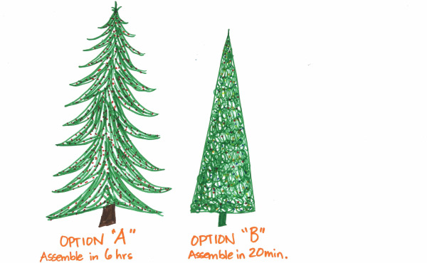 Christmas tree assembly comparison