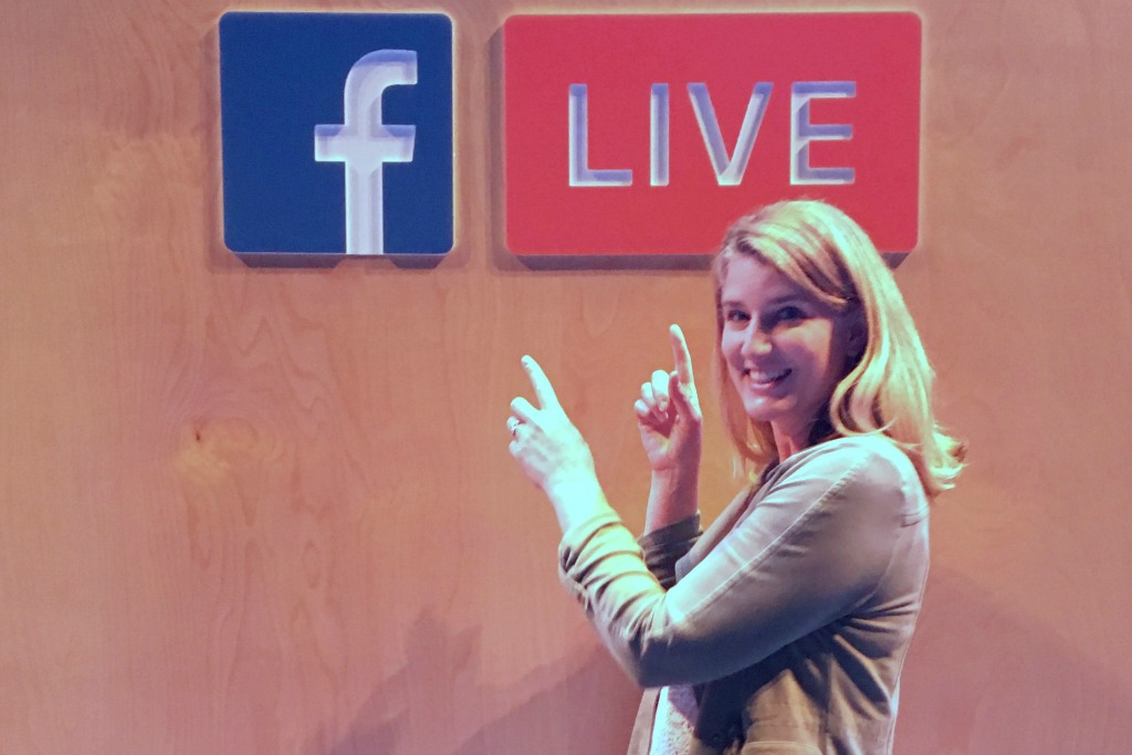 Holly in Hollywood with Facebook