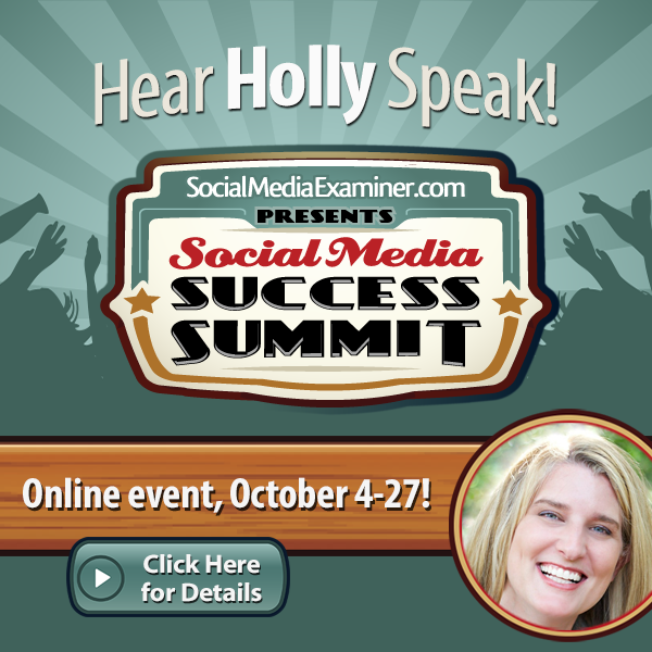 Come and see me at Social Media Marketing World!