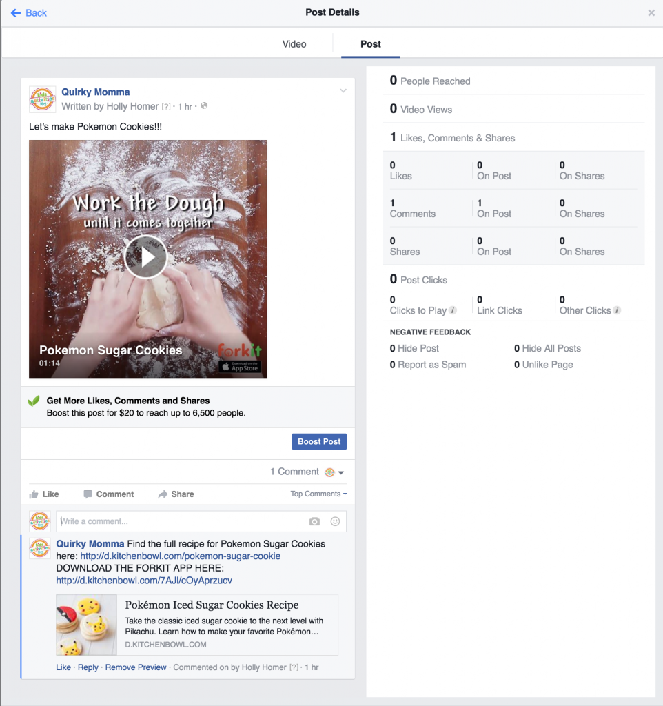 how to add first comment before fb video publishes