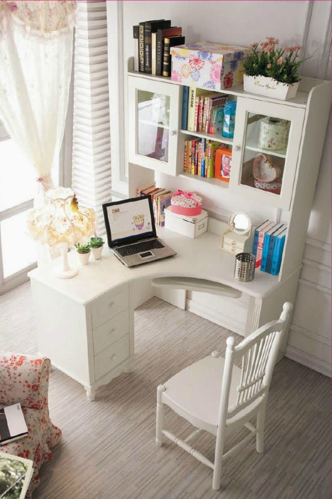 Beautiful Home Office Corner Desk