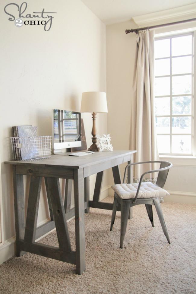Farmhouse Style Home Office Desk