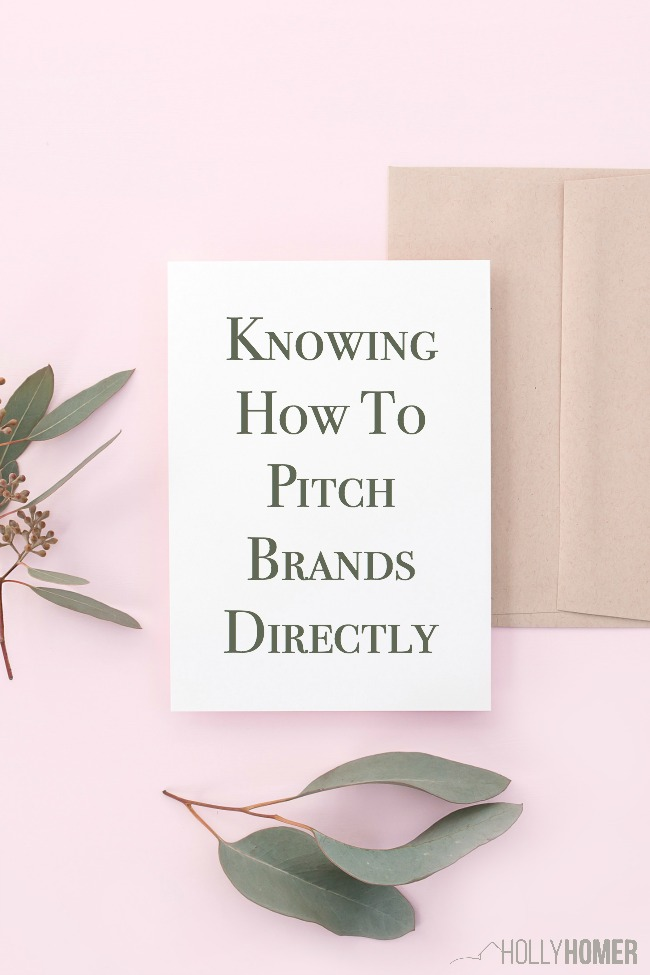 Knowing how to pitch brands directly