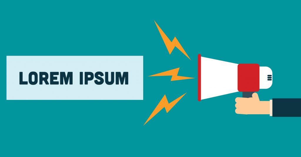 Lorem Ipsum megaphone - content ideas