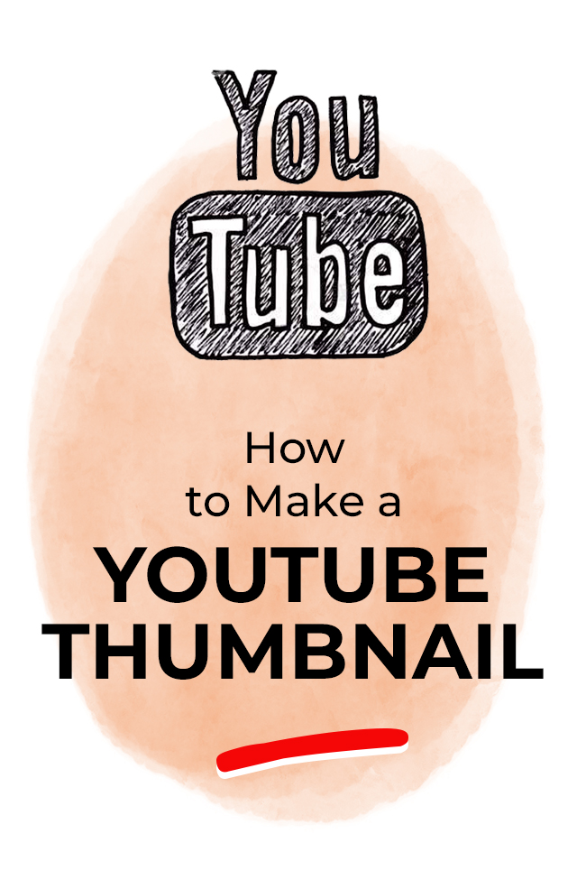YouTube Thumbnail - how to make